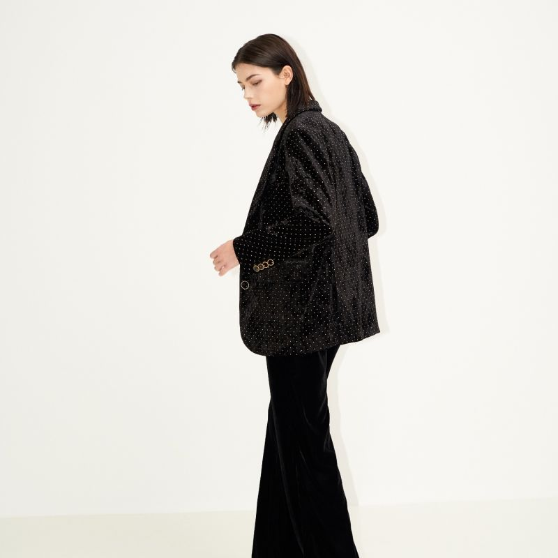 New To Classic Tailored Jacket Black Velvet image