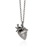 Heart Pendant Rhodium & Black Diamonds image