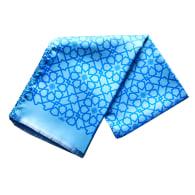Silk Scarf In Mosaic Pattern - Blue image
