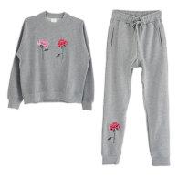 Embroidered Chrysanthemum Lounge Set image
