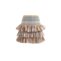 Serendipity Chinoiserie Skirt In Tan image
