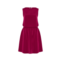 Bella Sleeveless Draped Dress - Sangria image
