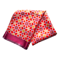 Silk Scarf In Mosaic Pattern - Red image