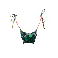 Bum Bum - Black Cheeky Bottom with Colorful Flower Pattern image