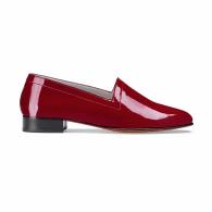 No.11 Crimson Patent Leather Block-Heel Loafers image