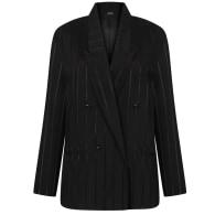 Aldene viscose striped black blazer pyjama style sleek image