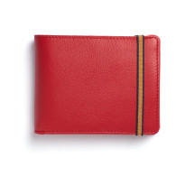 Red Minimalist Wallet With Coin Pocket image