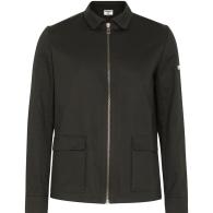 Black Denim Cotton Utility Jacket image