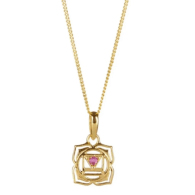 Root Chakra Necklace - Gold image