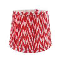 Candy Pink Gathered Cotton Lampshade 20cm image