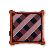 Scatter Cushion Navy + Orange 'S007' by Duo-Hue image