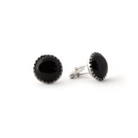 Black Onyx Gemstone Cufflinks image