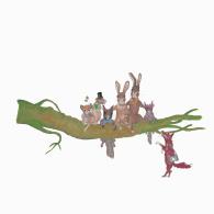 Woodland Family Print image