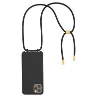 Bonibi Crossbody Phone Case For All Iphone Models Black-Black-Gold image