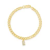 Crystal Initial 18k Gold Vermeil Bracelet image