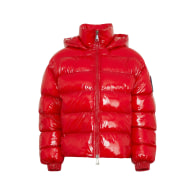 Pucelle Downsized, Glossy Quilted Hooded Puffer Jacket image