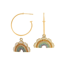 Multicolored Eclectic Big Drop The Path Earrings image