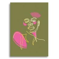Foil Line Drawing Postcard - Eleanor image