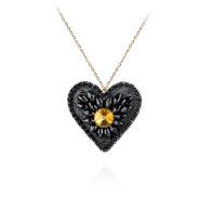 Ava Pendant - Black, Gold image