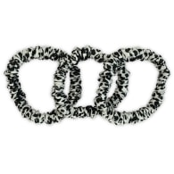 Leopard Slim Hair Ties Set In Black & White Detail image