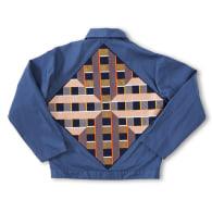 Vintage Embroidered Artist Jacket 'Blue Dusk' by Dou-Hue image