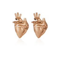 Heart Studs Rose Gold image
