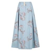 Faith Linen Maxi Skirt - Cloud Paisley Print image
