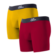 Super Soft Boxer Briefs Anti-Chafe & No Ride Up Design - 2 Pack With & Without Pouch - Red & Yellow image