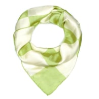 Checkerboard Silk Scarf - Green image