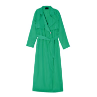 Long Sleeve Trench Duster - Blue Green image