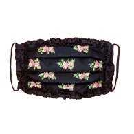 Ruffled Embroidered Silk Organza Face Mask image