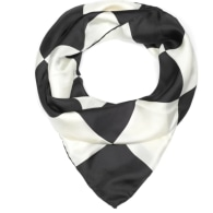 Checkerboard Silk Scarf - Black image