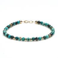 Turquoise Beaded Bracelet image