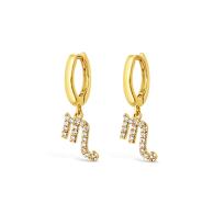 Scorpio 18k Gold Vermeil Zodiac Star Sign Earrings image