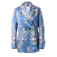 Silk Blazer in Blue Satin - Belle Époque image