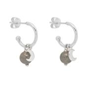 Symbol Charm Huggie Earrings Labradorite image