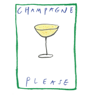 CHAMPAGNE PLEASE A3 PRINT image