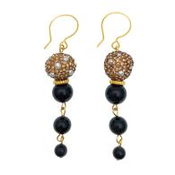 Obsidian Chain Earrings image