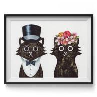 Lord & Lady Cat Giclée Print image