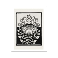 De Graag Black Rosebuds Art Print A4 image