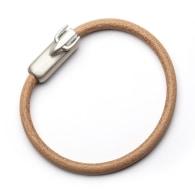 Bull Totem Bracelet with Black Strap image