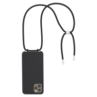 Bonibi Crossbody Phone Case For All Iphone Models - Black, Silver image
