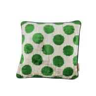Dorothy Green & Ivory Velvet Cushion image