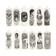 Set Of 12 Artistic Pillar Candles image