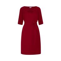 Catherine dress with optional belt - Bordeaux image