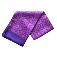Silk Scarf In Mosaic Pattern - Pink & Purple image