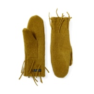 Ochre Lambswool Frond Mittens image