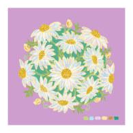 Lilac Daisy Bouquet Giclée Print 40X40Cm image