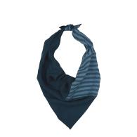 Christi Linen Stripe Scarf - Blue image
