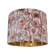 Opium Blush Pink Velvet Lampshade- Small image